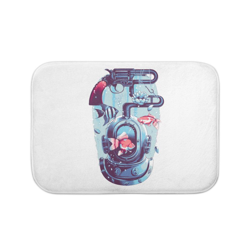 Shoot me Again Home Bath Mat by Santiago Sarquis's Artist Shop