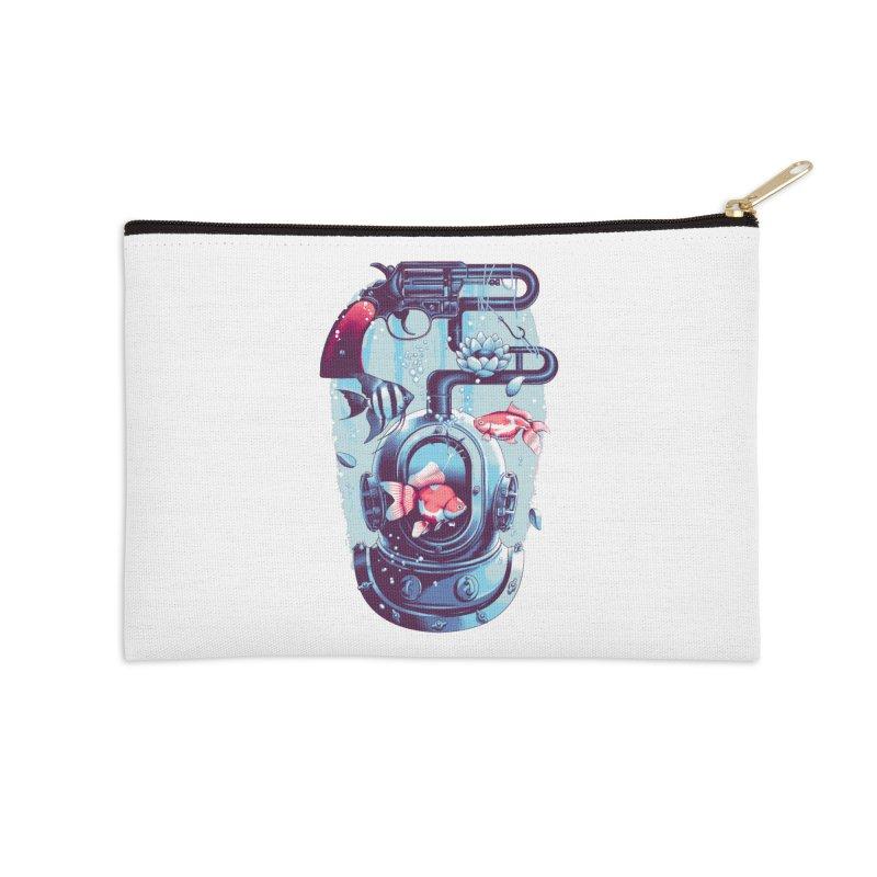 Shoot me Again Accessories Zip Pouch by Santiago Sarquis's Artist Shop