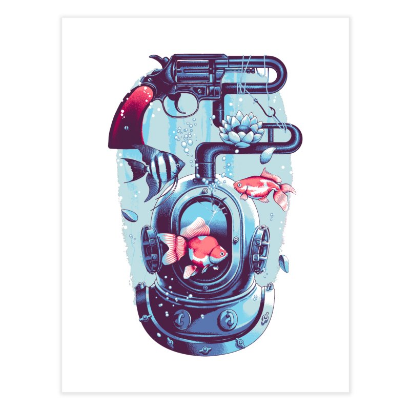 Shoot me Again Home Fine Art Print by Santiago Sarquis's Artist Shop