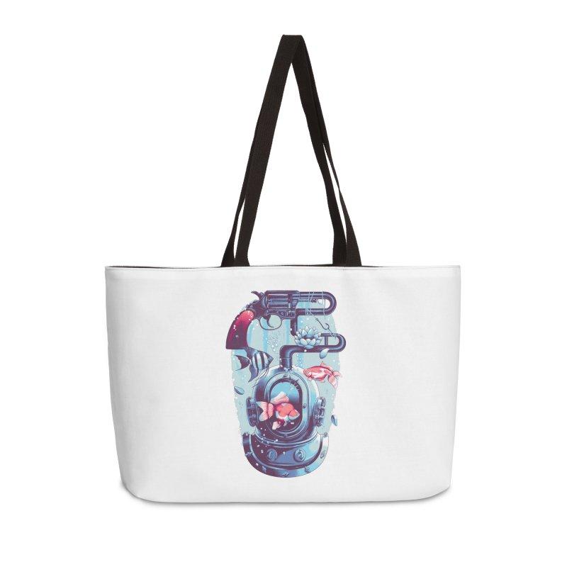 Shoot me Again Accessories Weekender Bag Bag by Santiago Sarquis's Artist Shop
