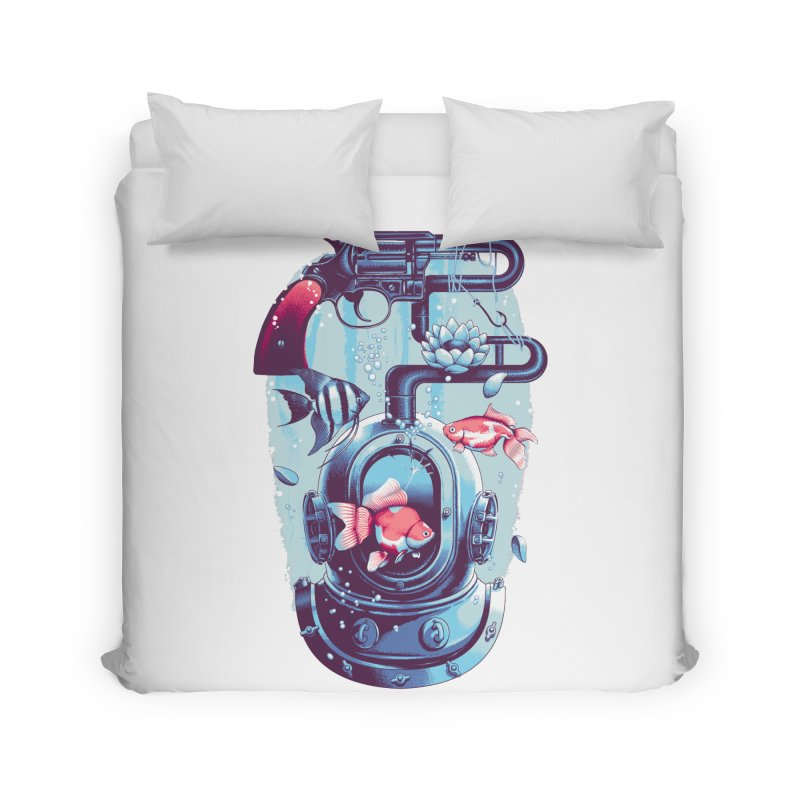 Shoot me Again Home Duvet by metalsan's Artist Shop