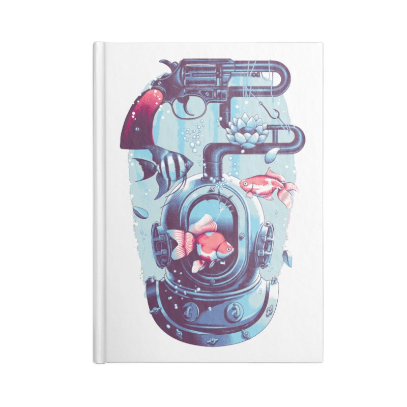 Shoot me Again Accessories Lined Journal Notebook by Santiago Sarquis's Artist Shop