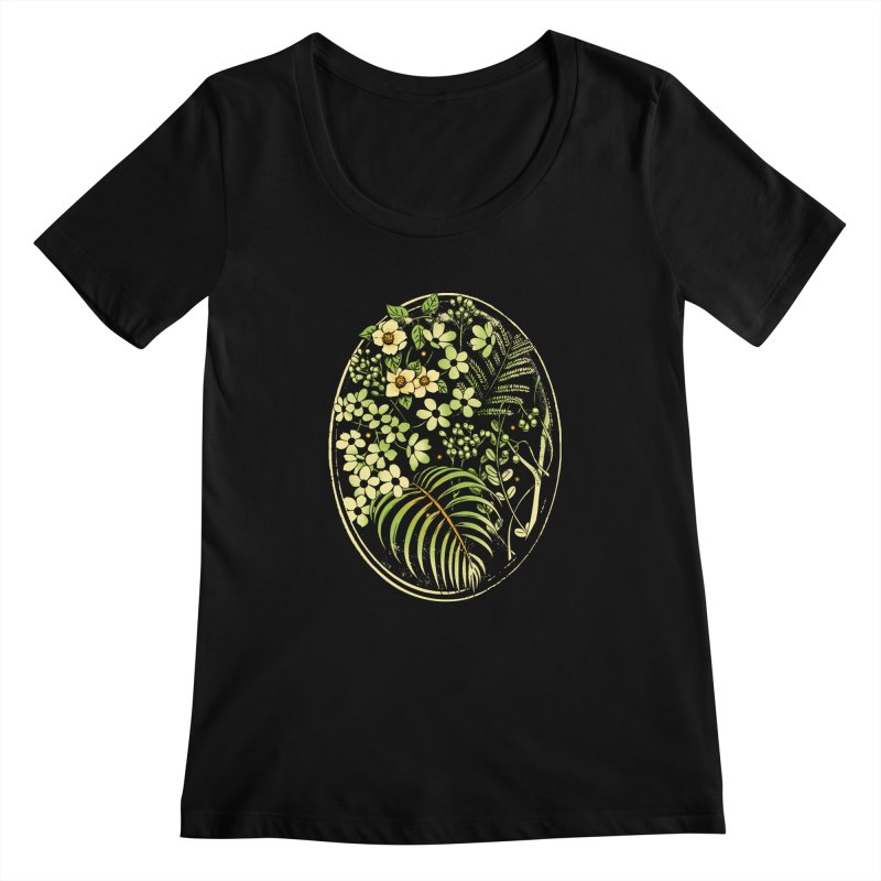 The Looking Glass Women's Scoopneck by Santiago Sarquis's Artist Shop