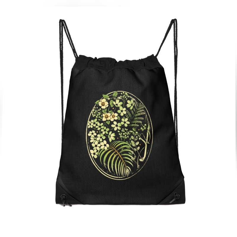 The Looking Glass Accessories Drawstring Bag Bag by Santiago Sarquis's Artist Shop