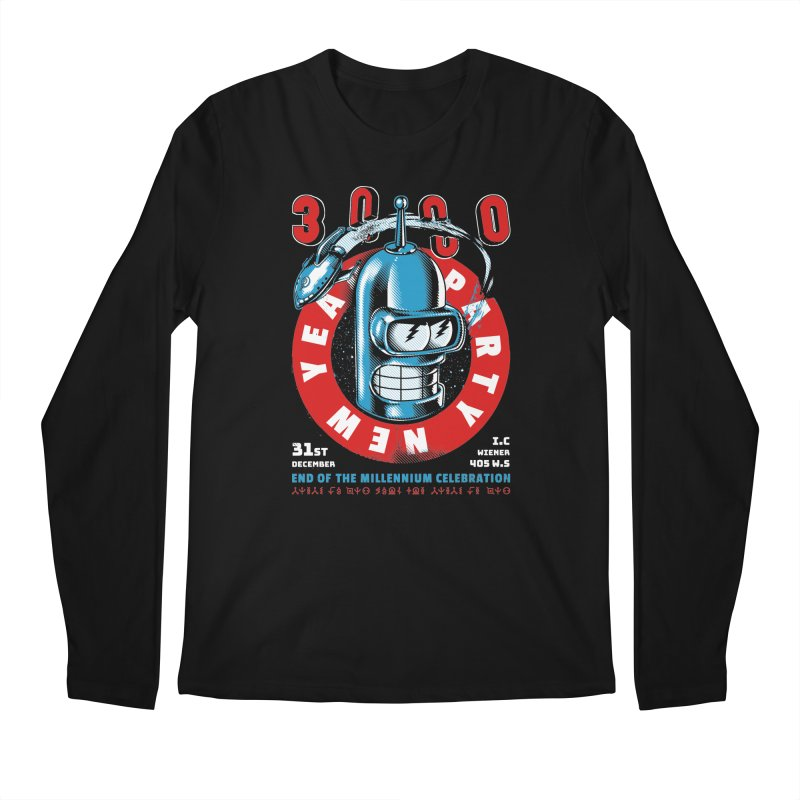 New Years Party Men's Longsleeve T-Shirt by Santiago Sarquis's Artist Shop