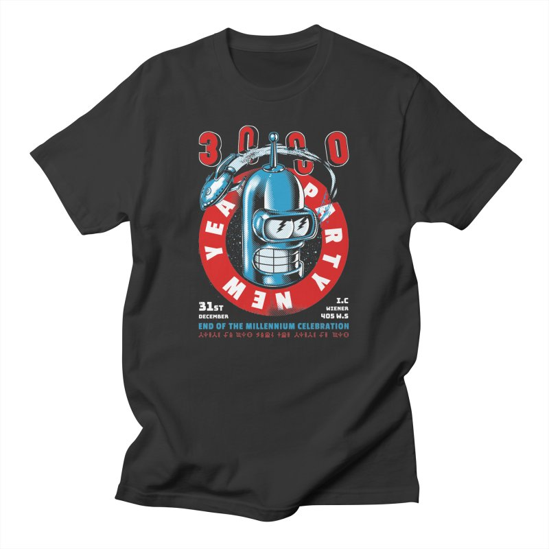 New Years Party Men's T-Shirt by Santiago Sarquis's Artist Shop