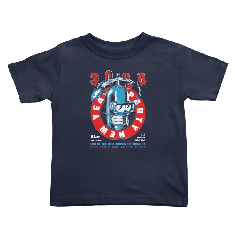 New Years Party Kids Toddler T-Shirt by Santiago Sarquis's Artist Shop