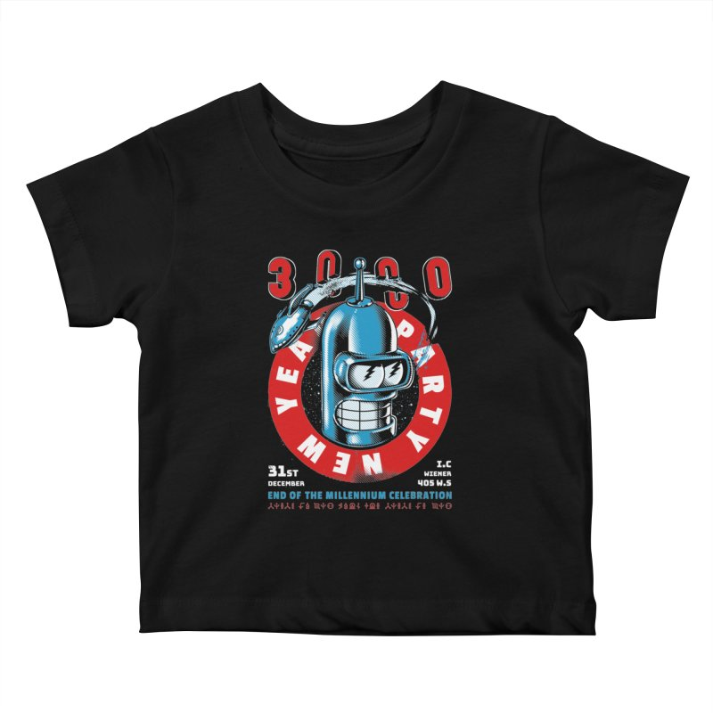 New Years Party Kids Baby T-Shirt by Santiago Sarquis's Artist Shop