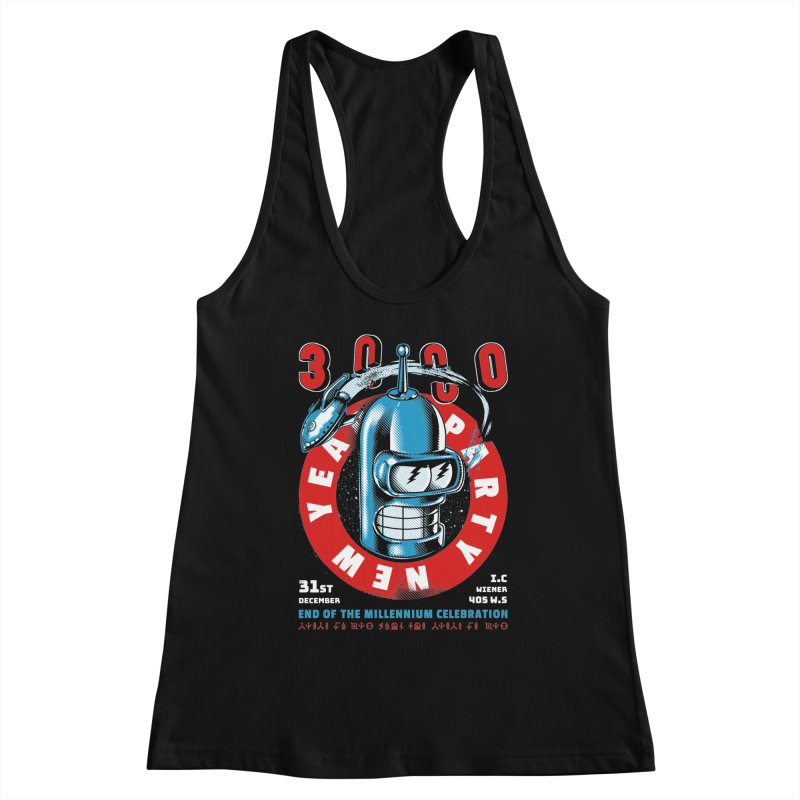 New Years Party Women's Tank by Santiago Sarquis's Artist Shop