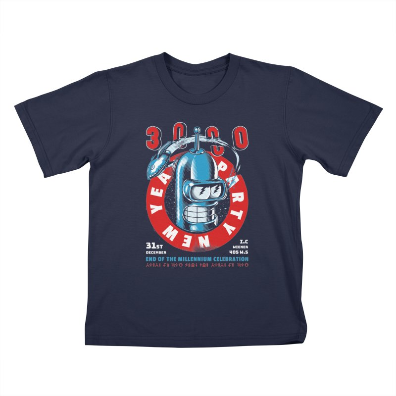 New Years Party Kids T-Shirt by Santiago Sarquis's Artist Shop