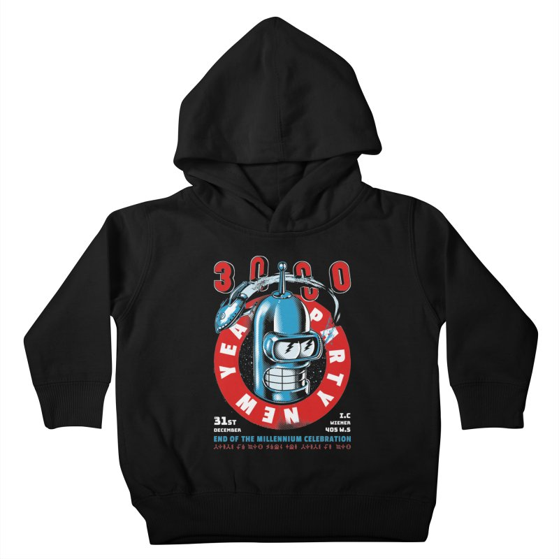 New Years Party Kids Toddler Pullover Hoody by Santiago Sarquis's Artist Shop