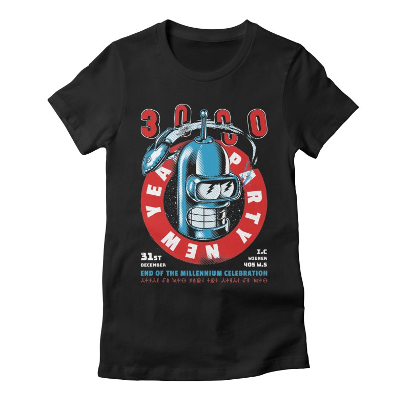 New Years Party Women's T-Shirt by Santiago Sarquis's Artist Shop