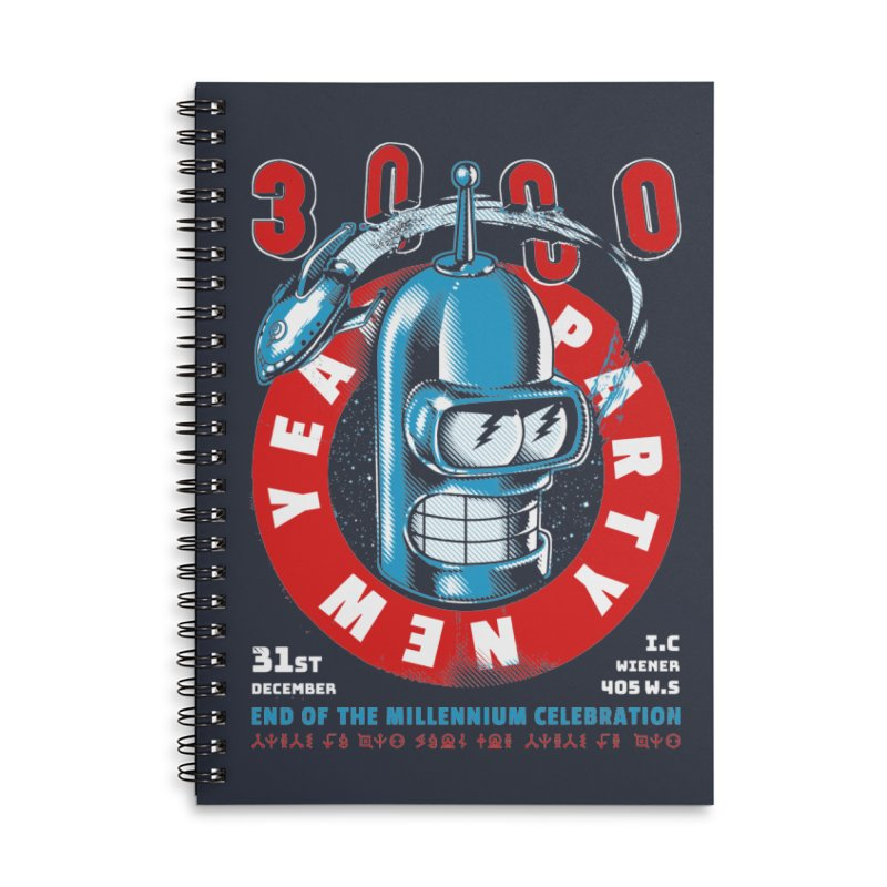 New Years Party Accessories Notebook by Santiago Sarquis's Artist Shop