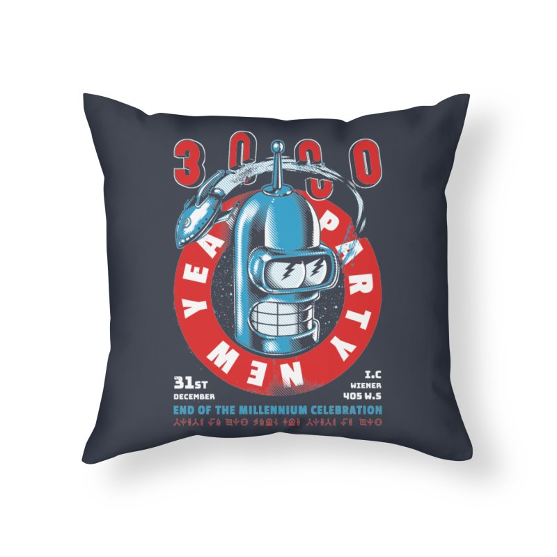 New Years Party Home Throw Pillow by Santiago Sarquis's Artist Shop