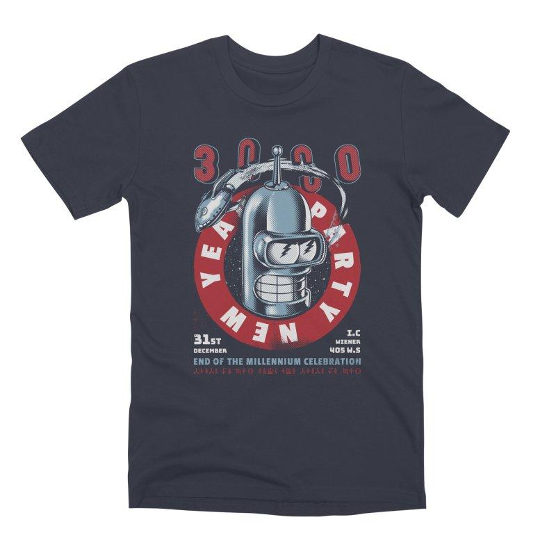 New Years Party Men's Premium T-Shirt by Santiago Sarquis's Artist Shop