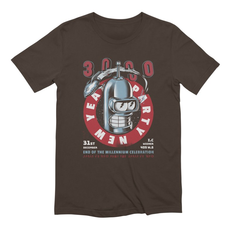 New Years Party Men's Extra Soft T-Shirt by Santiago Sarquis's Artist Shop