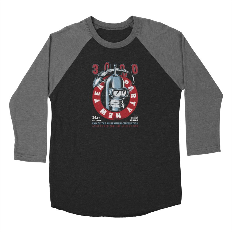 New Years Party Men's Baseball Triblend Longsleeve T-Shirt by Santiago Sarquis's Artist Shop