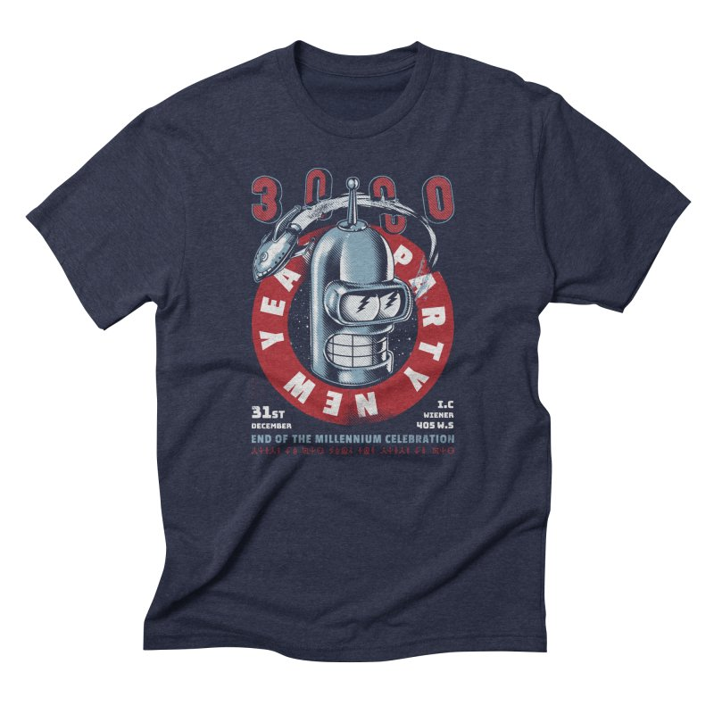 New Years Party Men's Triblend T-Shirt by Santiago Sarquis's Artist Shop
