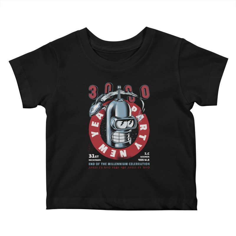 New Years Party Kids Baby T-Shirt by metalsan's Artist Shop