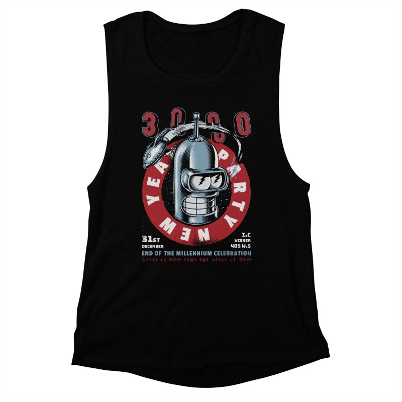 New Years Party Women's Muscle Tank by Santiago Sarquis's Artist Shop
