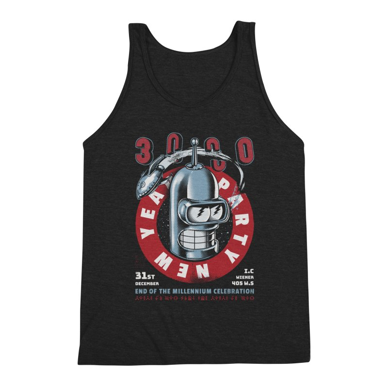 New Years Party Men's Triblend Tank by Santiago Sarquis's Artist Shop