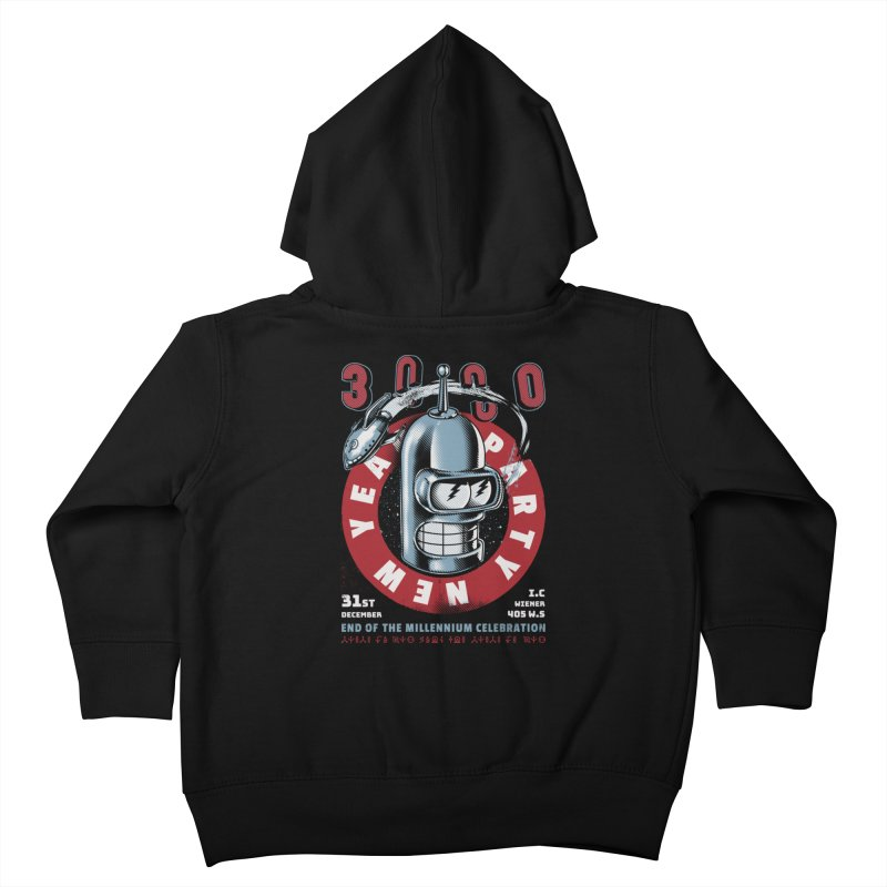 New Years Party Kids Toddler Zip-Up Hoody by Santiago Sarquis's Artist Shop