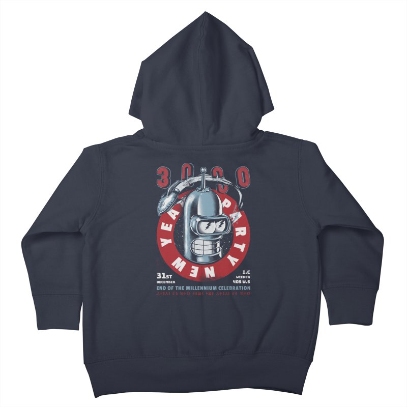 New Years Party Kids Toddler Zip-Up Hoody by metalsan's Artist Shop