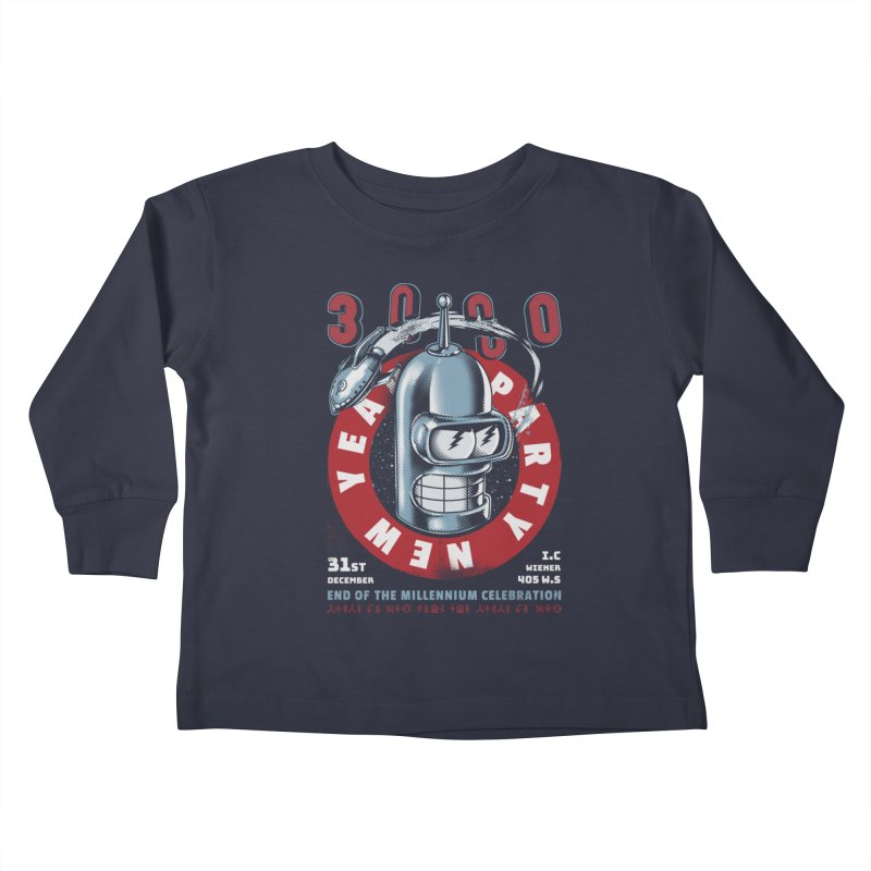 New Years Party Kids Toddler Longsleeve T-Shirt by Santiago Sarquis's Artist Shop