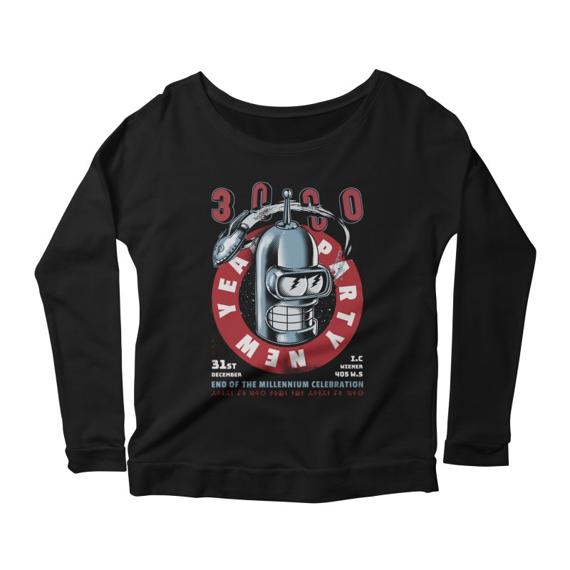 New Years Party Women's Scoop Neck Longsleeve T-Shirt by Santiago Sarquis's Artist Shop