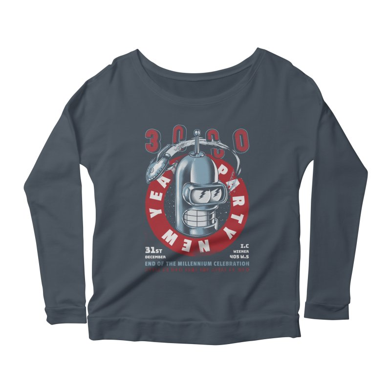 New Years Party Women's Longsleeve Scoopneck  by Santiago Sarquis's Artist Shop