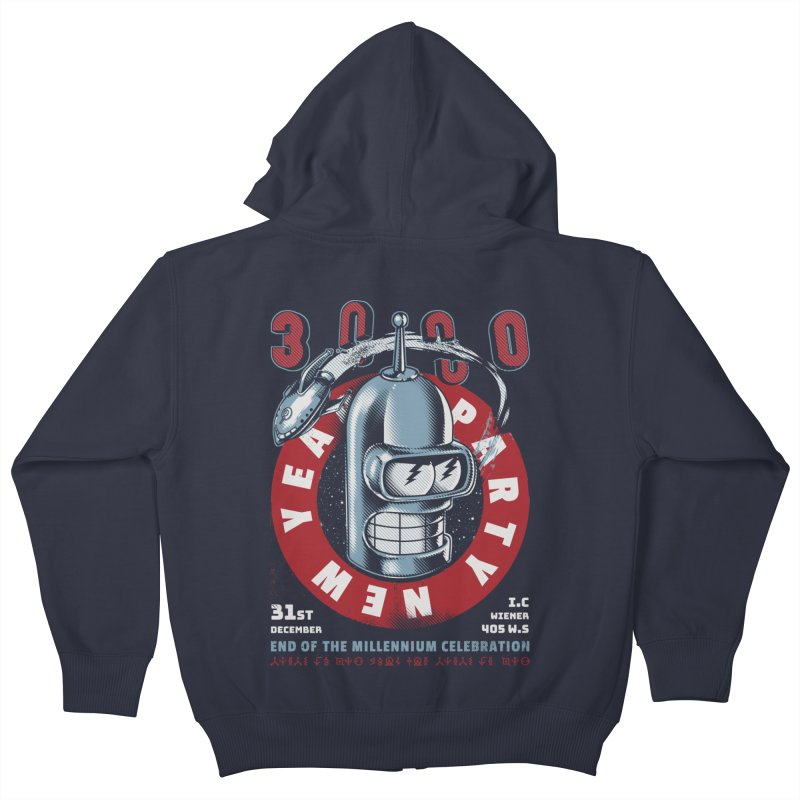 New Years Party Kids Zip-Up Hoody by metalsan's Artist Shop