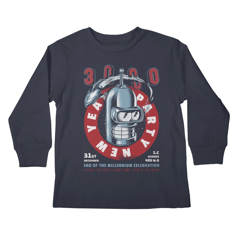 New Years Party Kids Longsleeve T-Shirt by Santiago Sarquis's Artist Shop