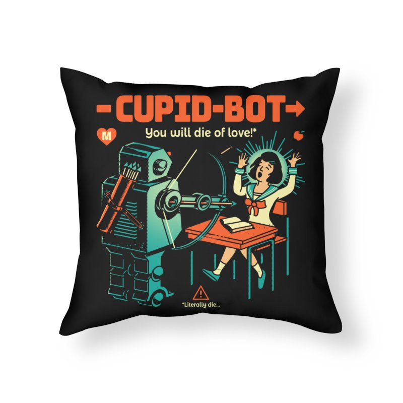 Cupid-Bot Home Throw Pillow by Santiago Sarquis's Artist Shop