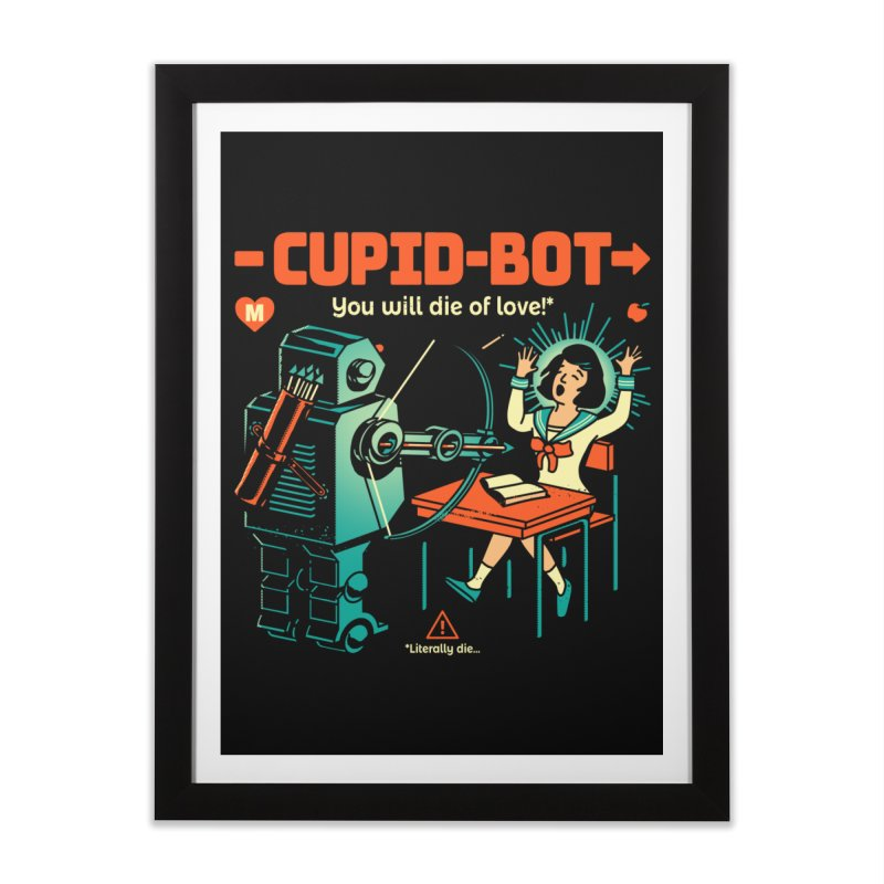Cupid-Bot Home Framed Fine Art Print by Santiago Sarquis's Artist Shop