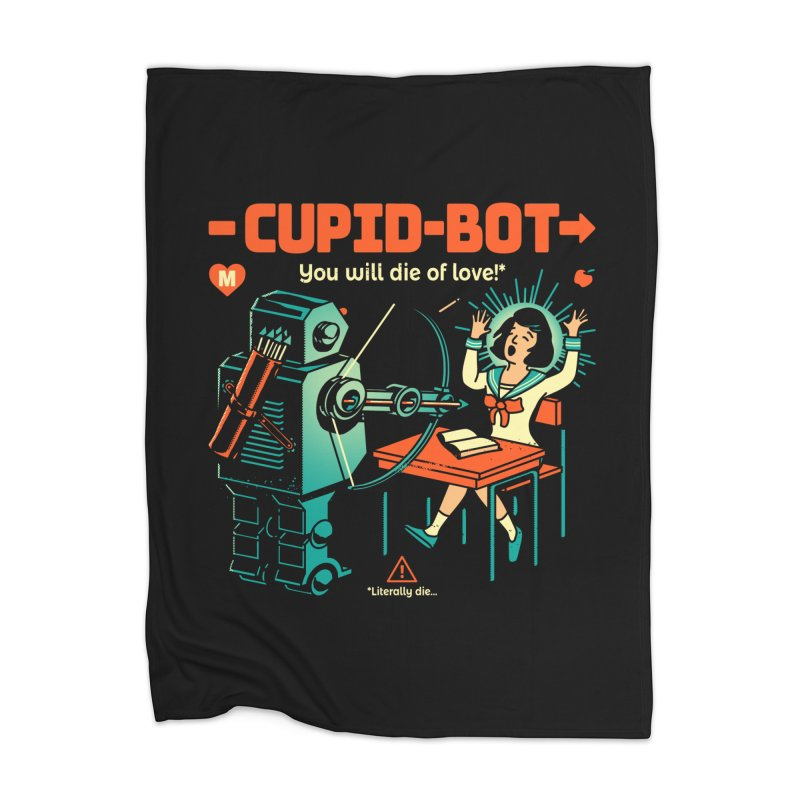 Cupid-Bot Home Blanket by Santiago Sarquis's Artist Shop