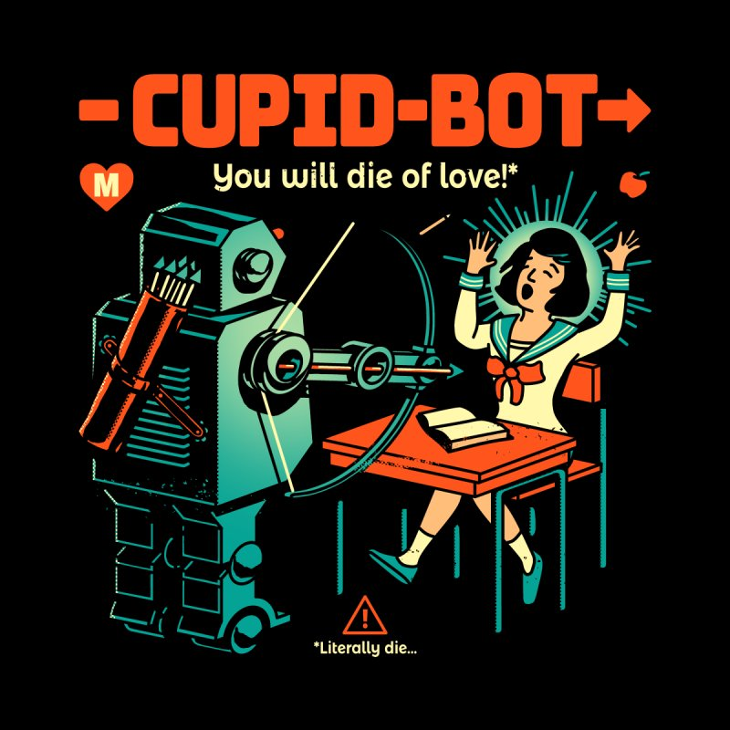 Cupid-Bot Women's Zip-Up Hoody by Santiago Sarquis's Artist Shop