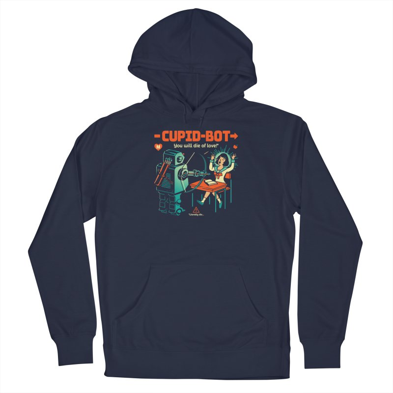 Cupid-Bot Men's French Terry Pullover Hoody by Santiago Sarquis's Artist Shop