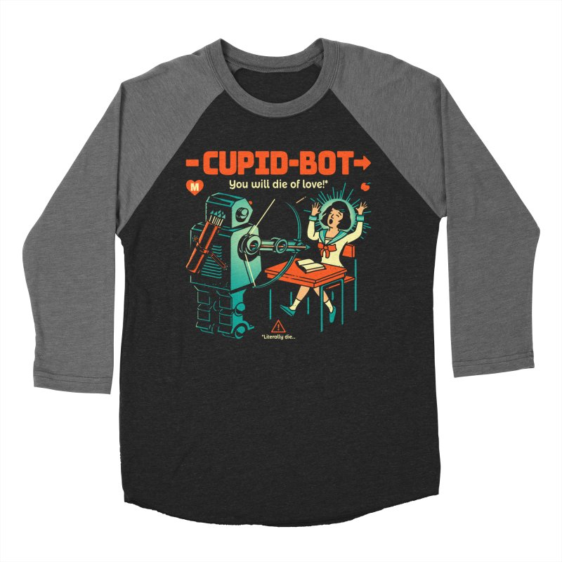 Cupid-Bot Women's Baseball Triblend T-Shirt by Santiago Sarquis's Artist Shop