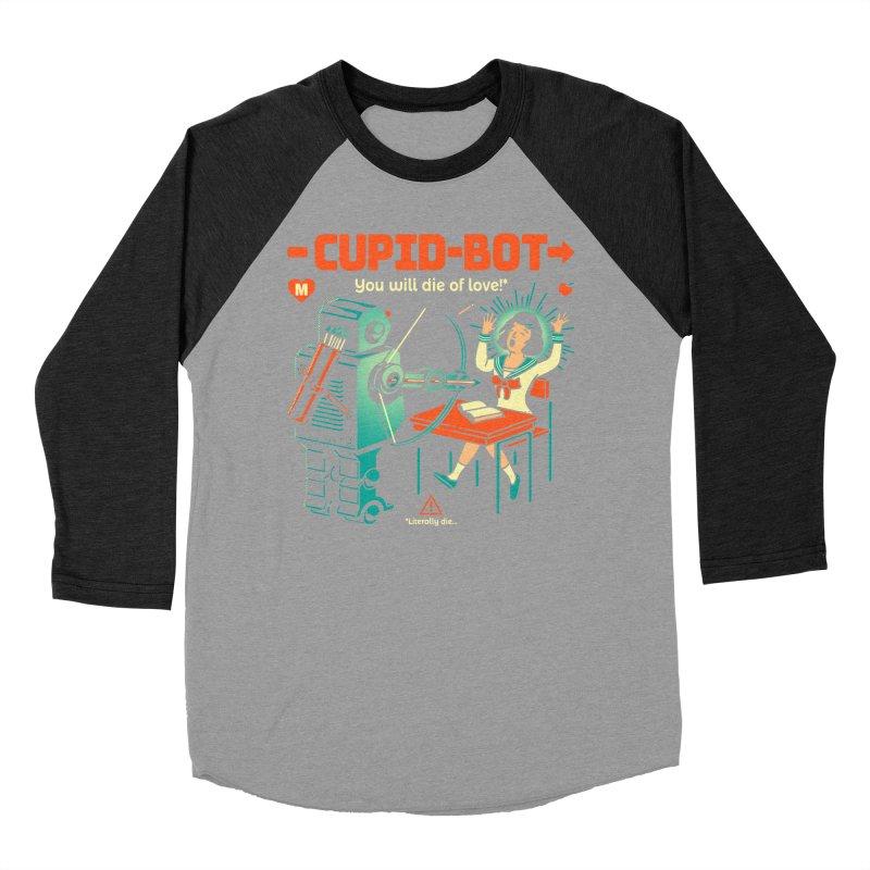 Cupid-Bot Women's Baseball Triblend Longsleeve T-Shirt by Santiago Sarquis's Artist Shop