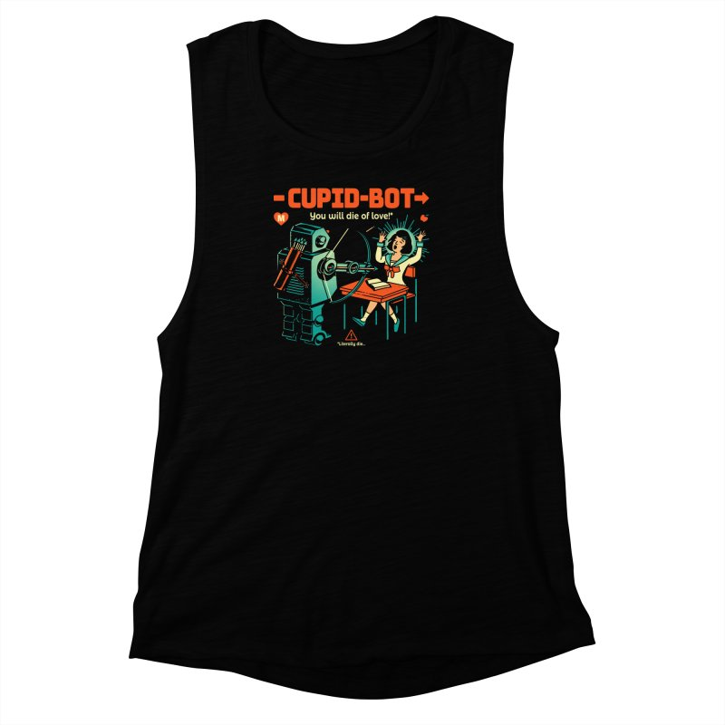 Cupid-Bot Women's Muscle Tank by Santiago Sarquis's Artist Shop