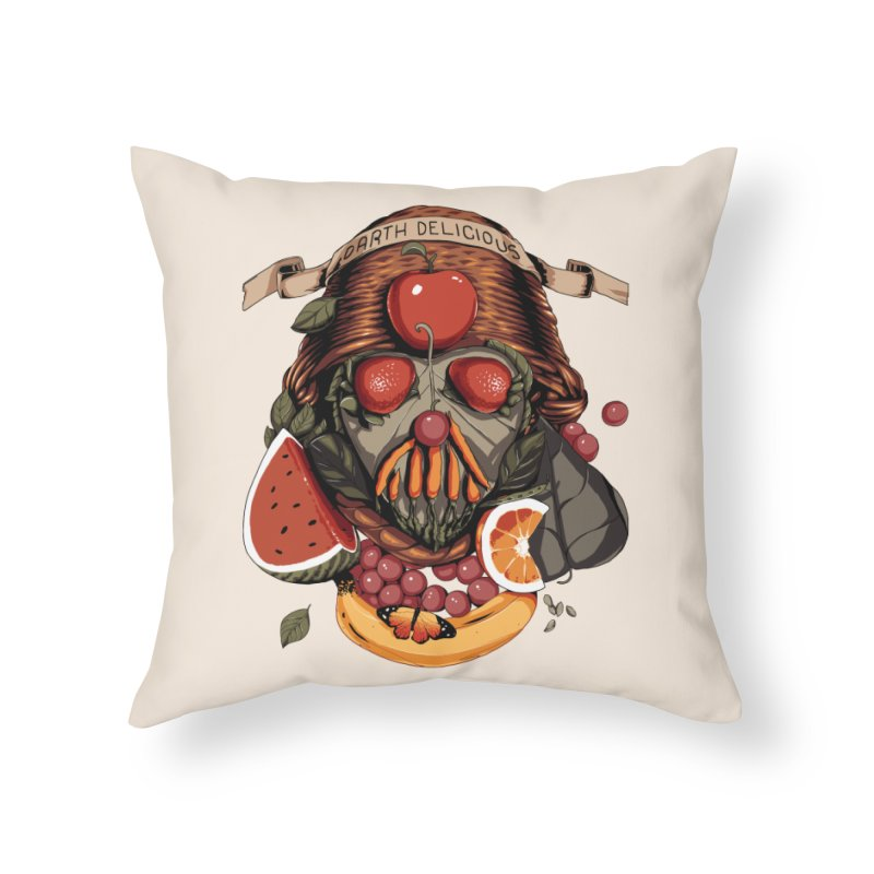 Darth Delicious Home Throw Pillow by metalsan's Artist Shop