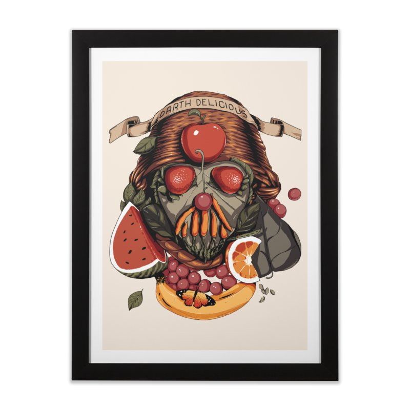 Darth Delicious Home Framed Fine Art Print by Santiago Sarquis's Artist Shop