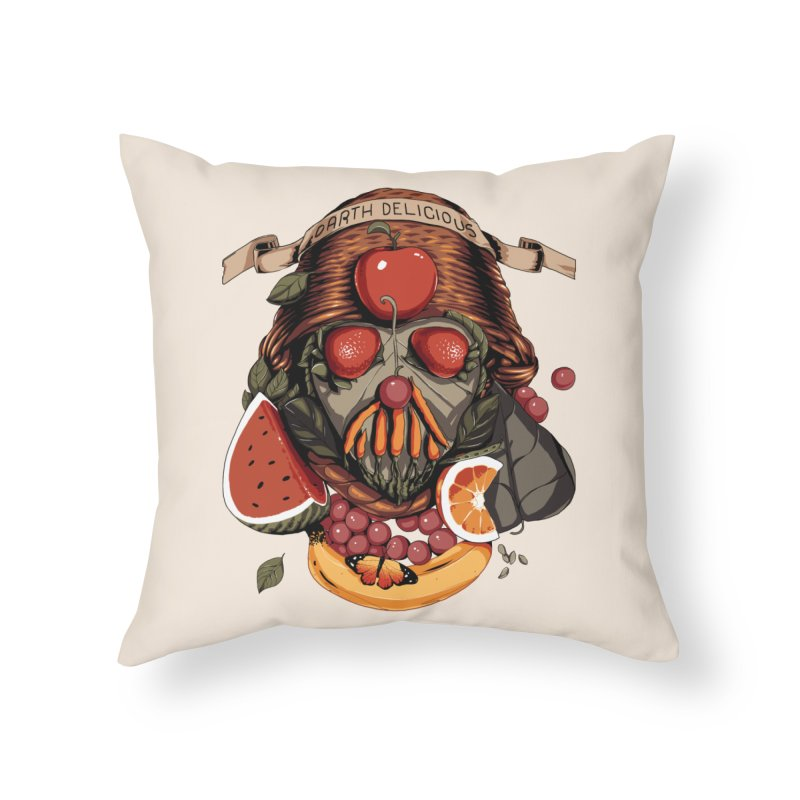 Darth Delicious Home Throw Pillow by Santiago Sarquis's Artist Shop