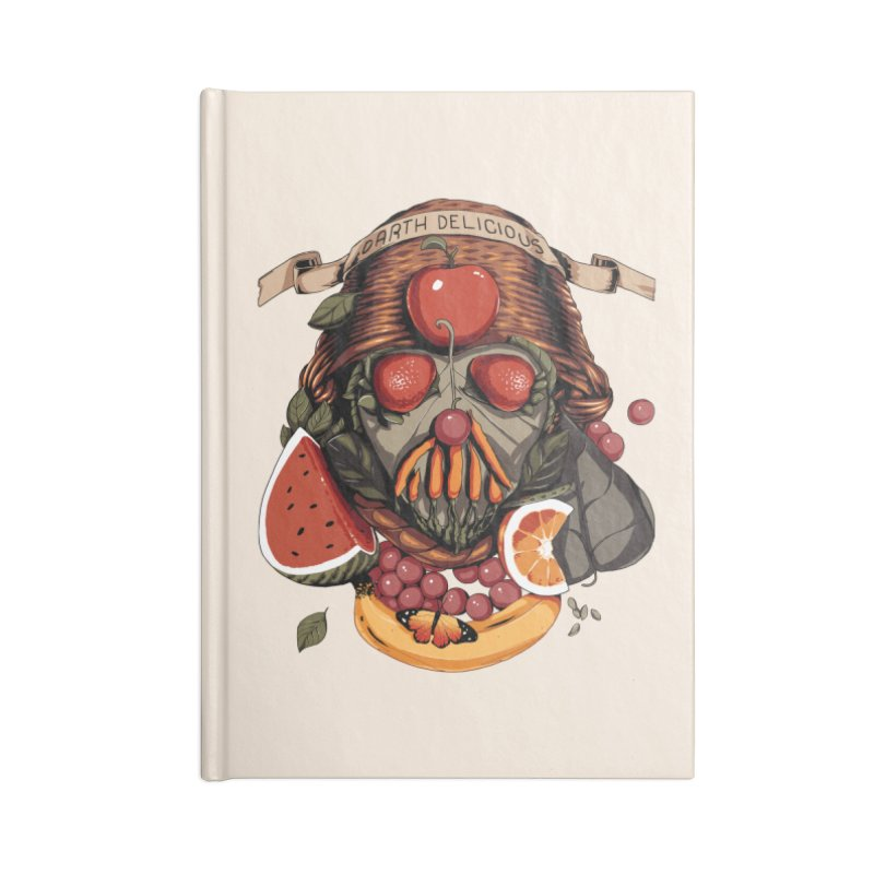 Darth Delicious Accessories Lined Journal Notebook by Santiago Sarquis's Artist Shop