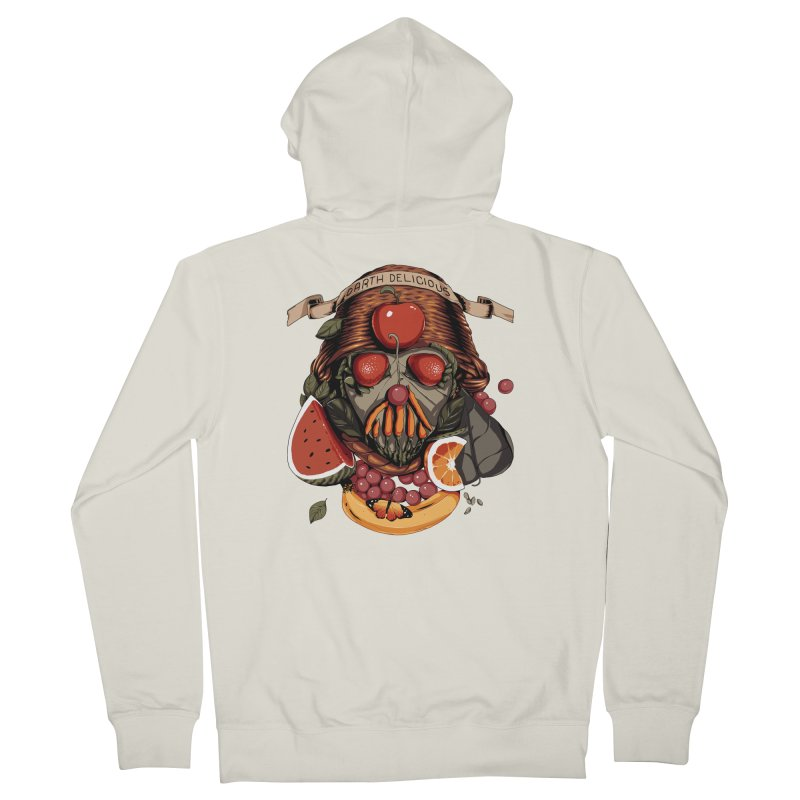 Darth Delicious Men's French Terry Zip-Up Hoody by Santiago Sarquis's Artist Shop