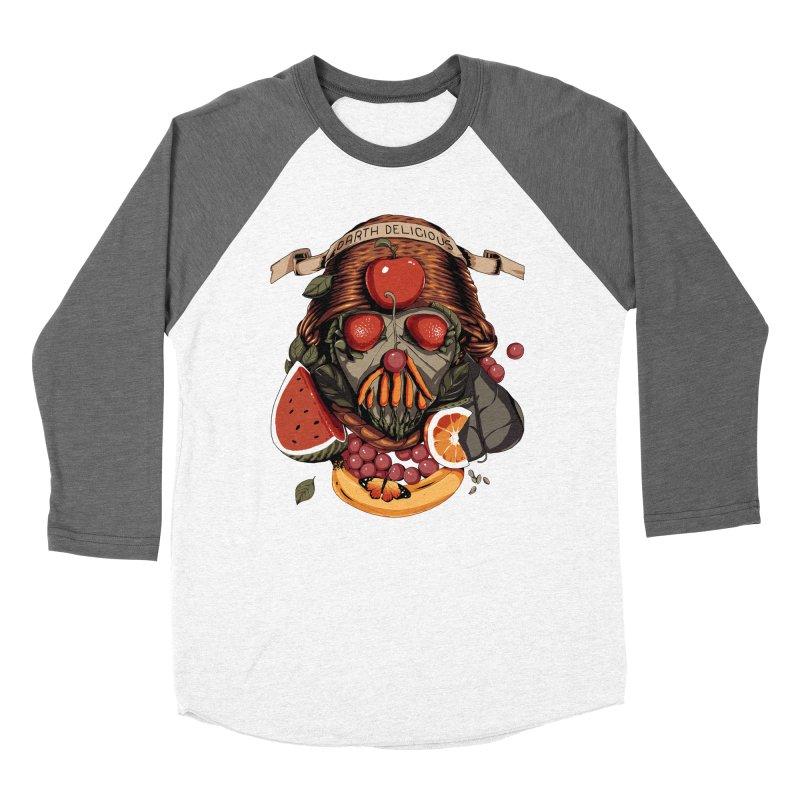 Darth Delicious Women's Baseball Triblend Longsleeve T-Shirt by Santiago Sarquis's Artist Shop