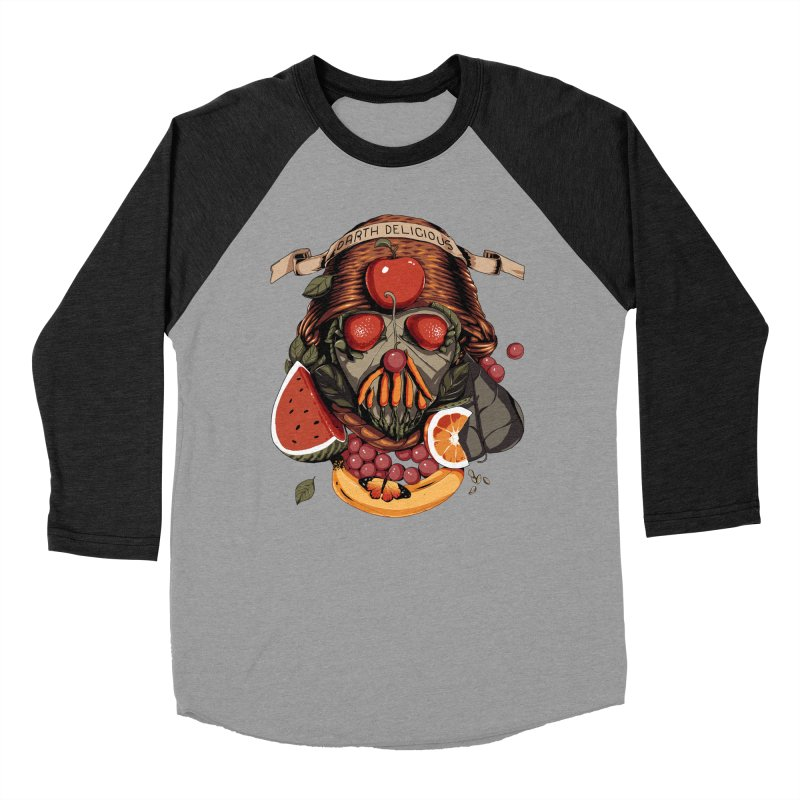 Darth Delicious Men's Baseball Triblend T-Shirt by Santiago Sarquis's Artist Shop