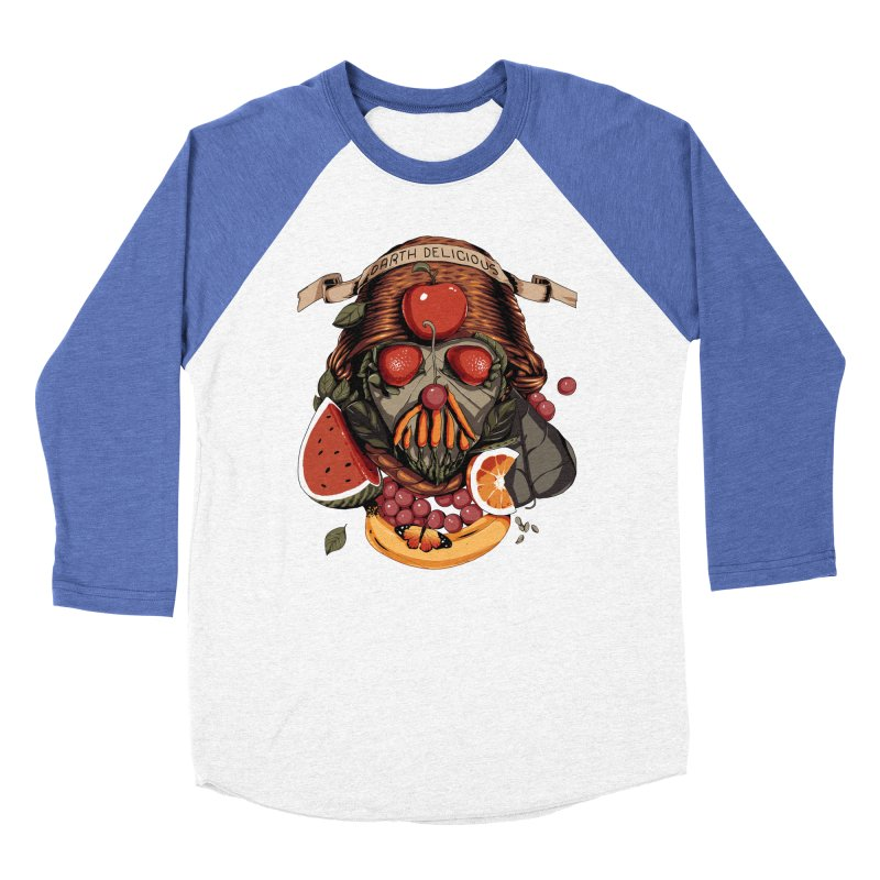 Darth Delicious Men's Baseball Triblend Longsleeve T-Shirt by Santiago Sarquis's Artist Shop