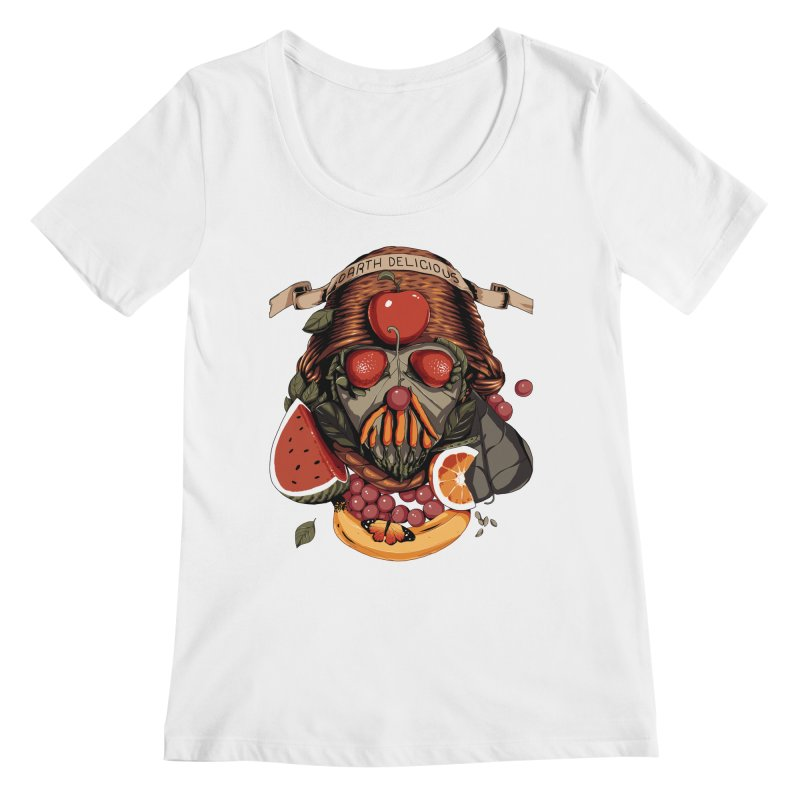 Darth Delicious Women's Regular Scoop Neck by Santiago Sarquis's Artist Shop