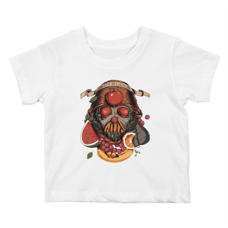 Darth Delicious Kids Baby T-Shirt by Santiago Sarquis's Artist Shop